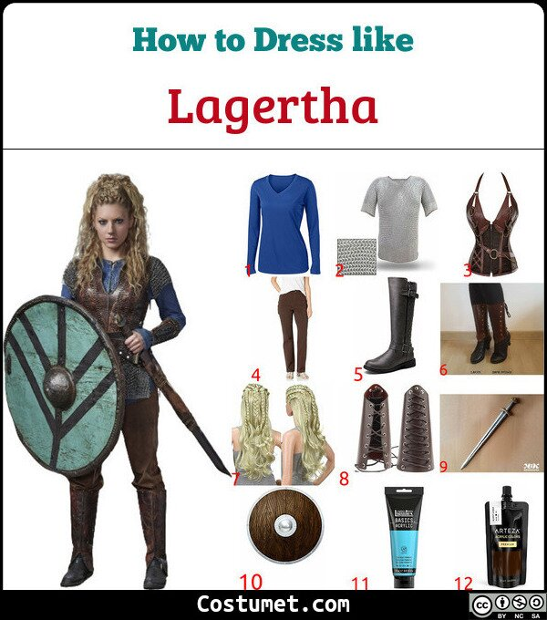 Lagertha Costume for Cosplay & Halloween