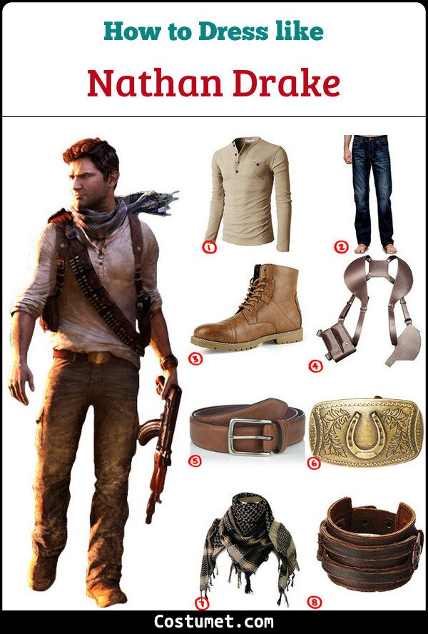 Nathan Drake Uncharted Costume For Cosplay Halloween 2020