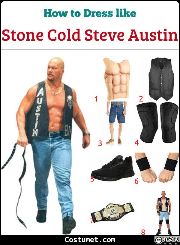 Stone Cold Steve Austin Costume for Cosplay & Halloween